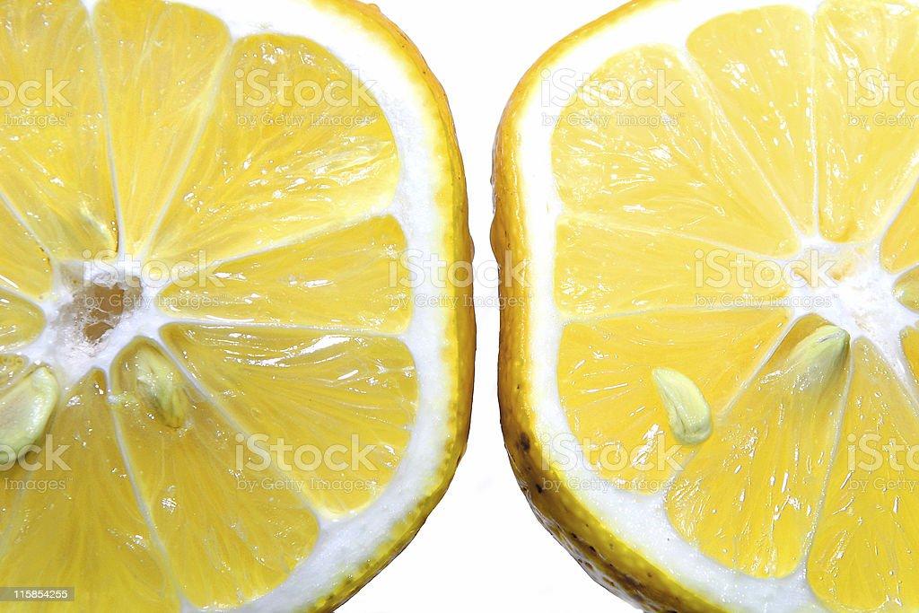 Lemon Halves royalty-free stock photo