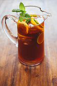 Fresh lemon ice tea, perfect for hot summer days!