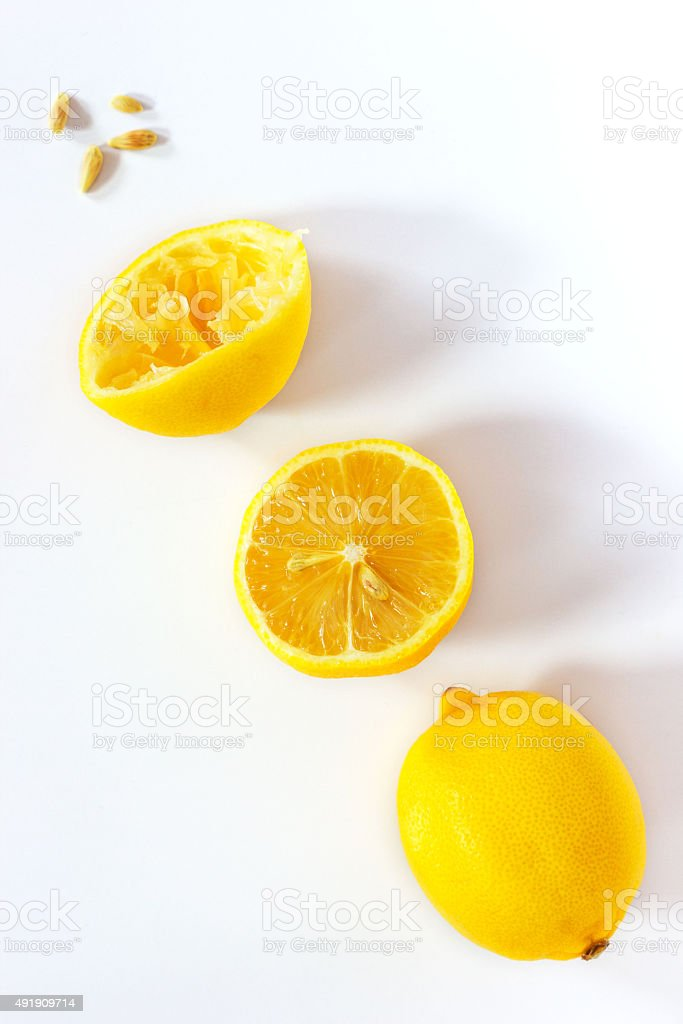 Lemon in few stages stock photo