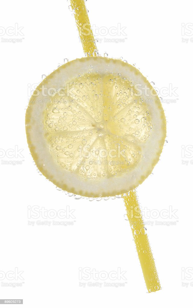 lemon in mineral water royalty-free stock photo