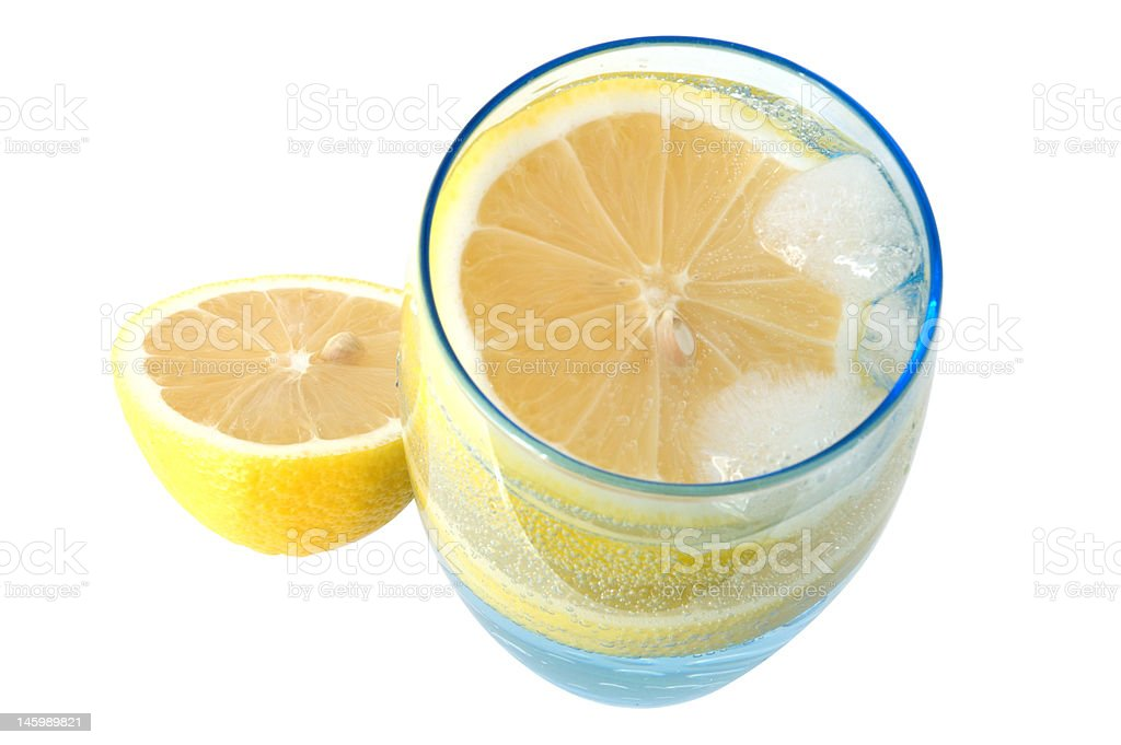 Lemon in water. royalty-free stock photo