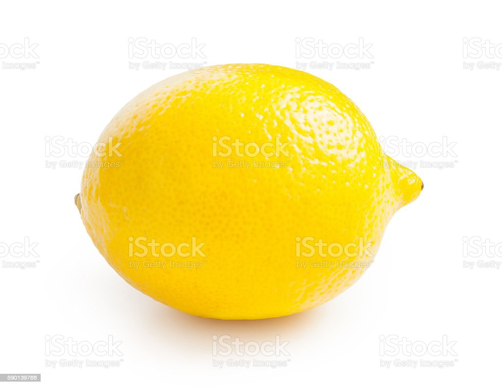 Lemon isolated on white background stock photo