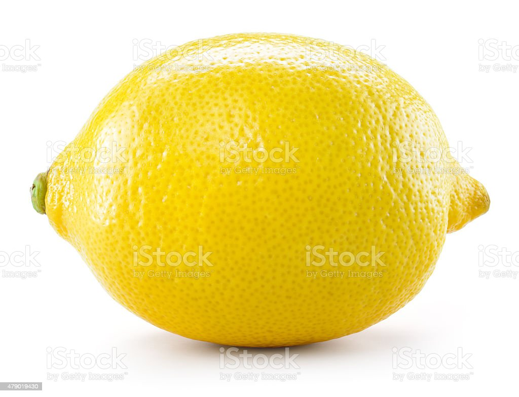 Lemon isolated on white background. With clipping path stock photo