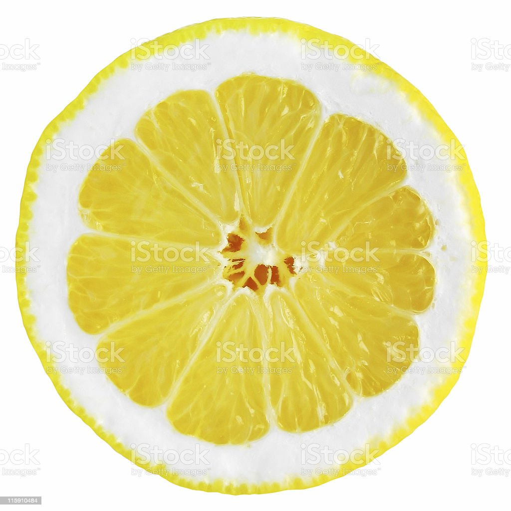 Lemon (half) isolated on white - clipping path royalty-free stock photo