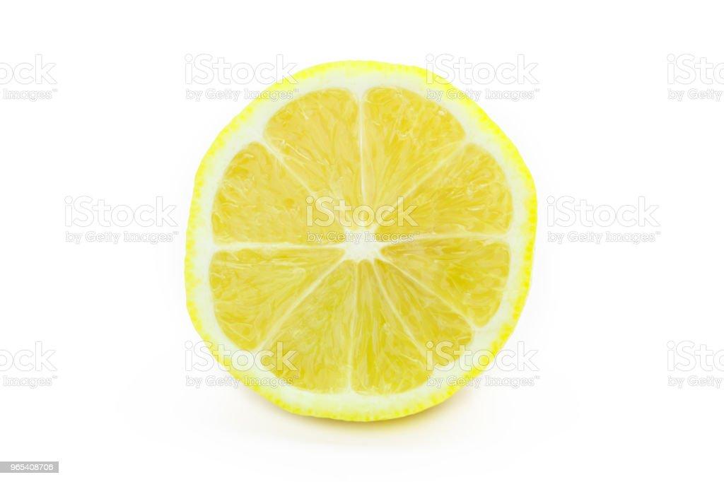 Lemon isoliert auf weiss - Lizenzfrei Einzelner Gegenstand Stock-Foto