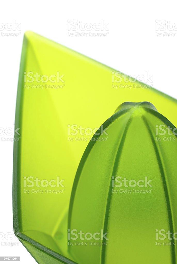 Lemon juicer (macro) royalty-free stock photo