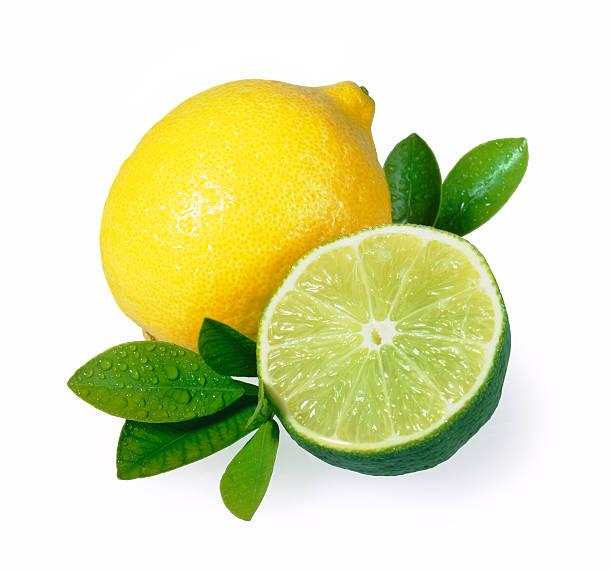 Lemon Lime duo + Leafs stock photo