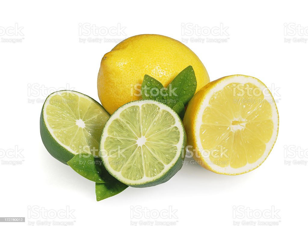 Lemon Lime + Leafs stock photo