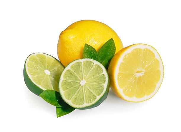 Lemon Lime + Leafs stock photo