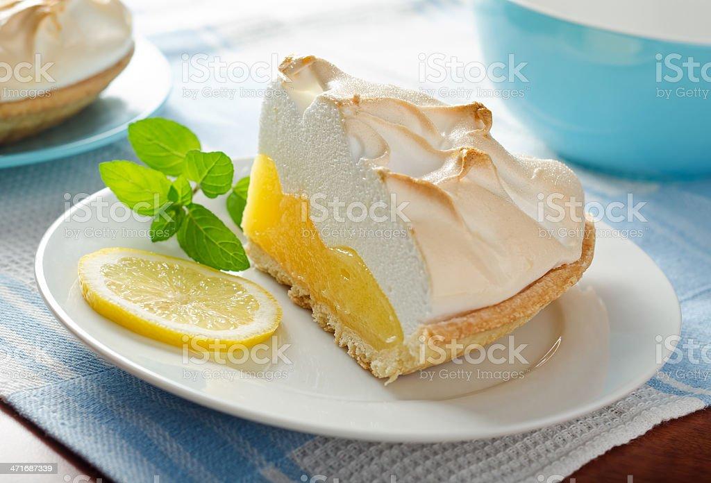 Lemon Meringue Pie royalty-free stock photo