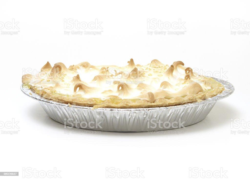 Torta di meringa e limone foto stock royalty-free