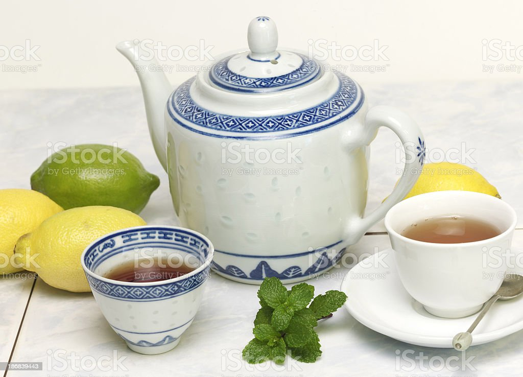 Lemon Mint Tea royalty-free stock photo