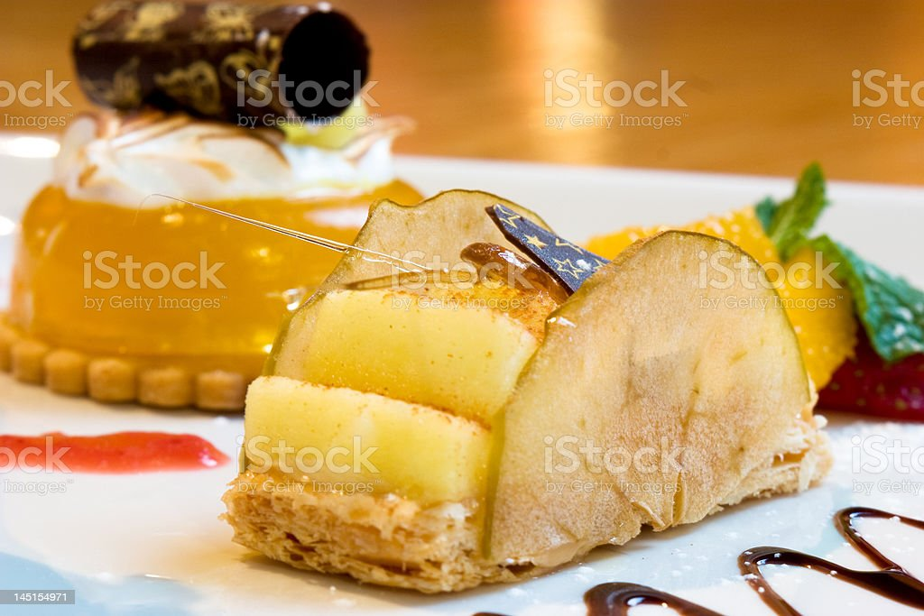 Lemon Mousse Dessert stock photo