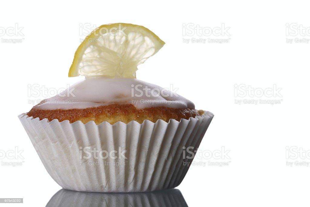 Muffin au citron gros plan photo libre de droits