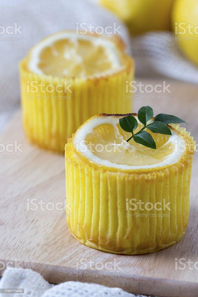 Lemon muffins_close up royalty-free stock photo