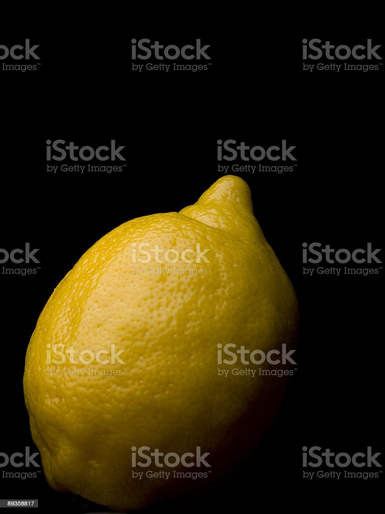 Lemon on Black royalty free stockfoto