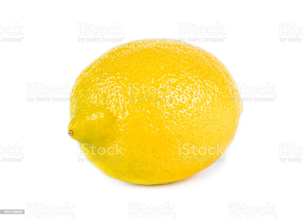 Lemon on white background isolated royalty-free stock photo