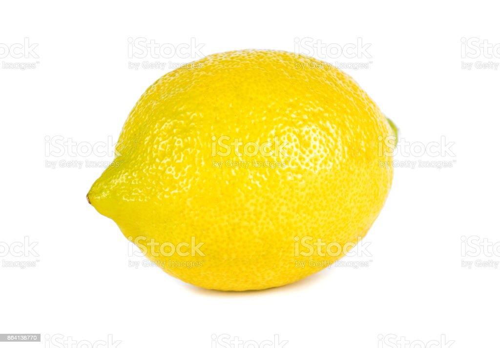 Lemon on white background isolated royalty-free stock photo