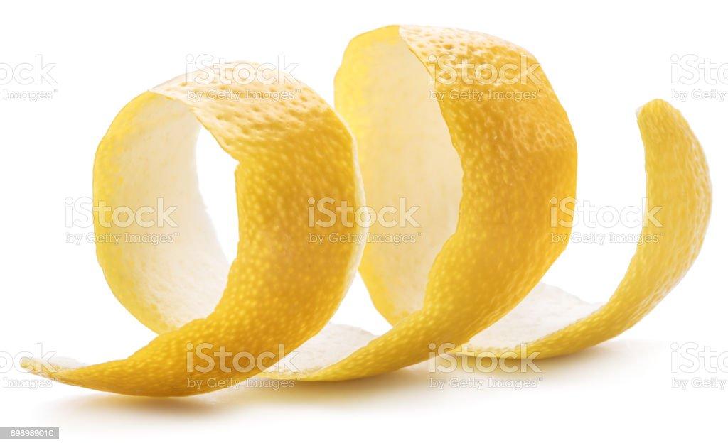 Lemon peel or lemon twist. stock photo