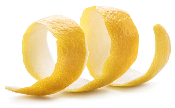 Lemon peel or lemon twist. stock photo