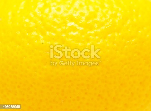 close up of lemon peel