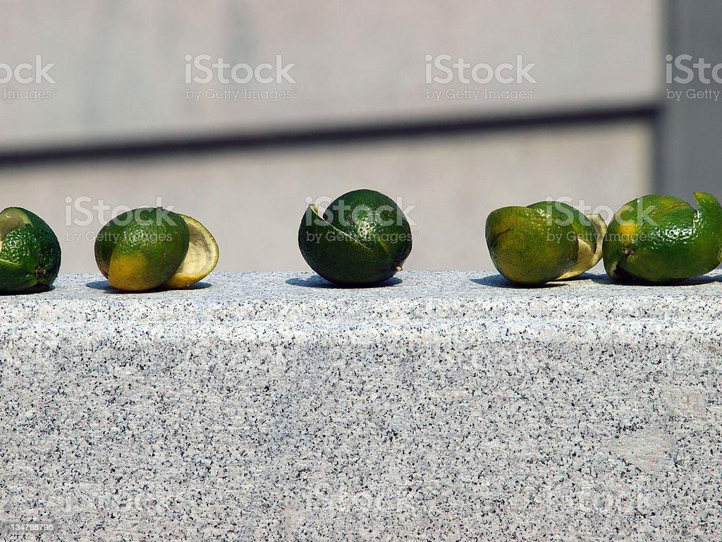 lemon peels stock photo