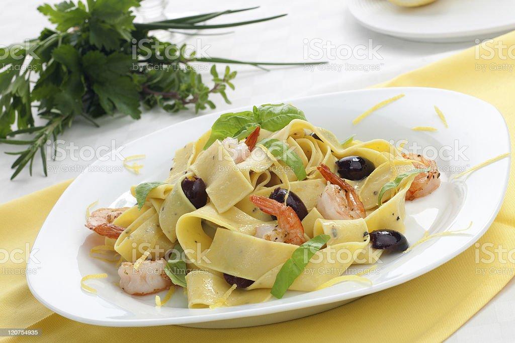 Lemon Pepper Pasta stock photo