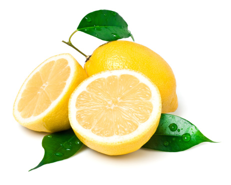 Fresh lemon slices pattern background, close up