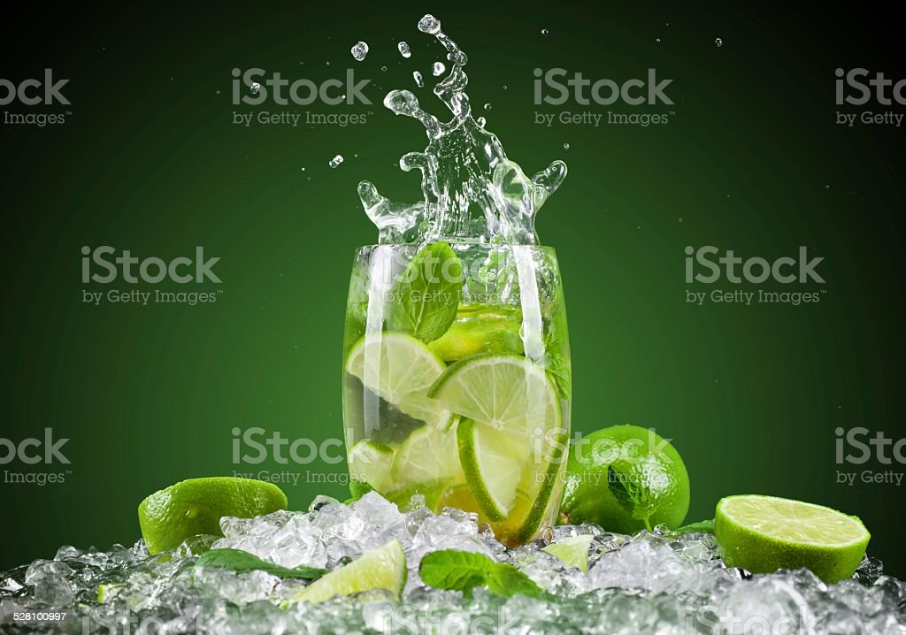 Lemon. When creating this picture inspired me cooking. Cold Drink Stock Photo