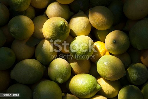 Yellow and green lemon