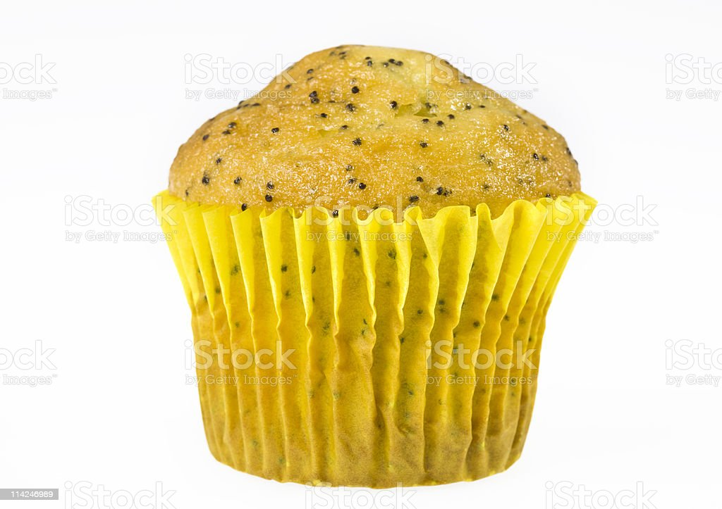 lemon poppy muffin stock photo