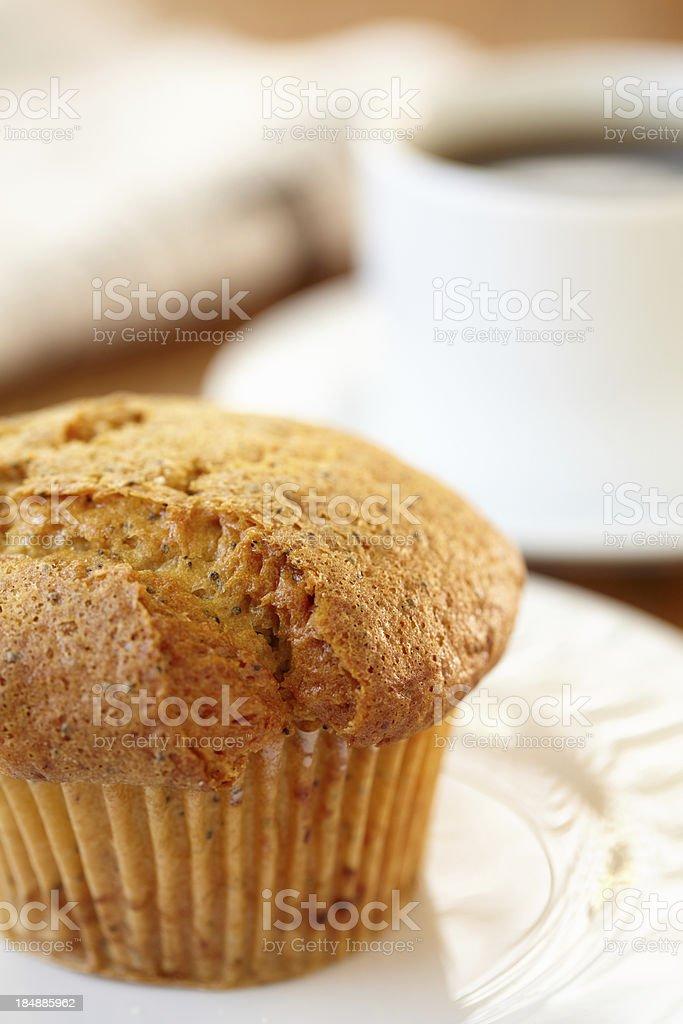 Lemon Poppy muffin royalty-free stock photo