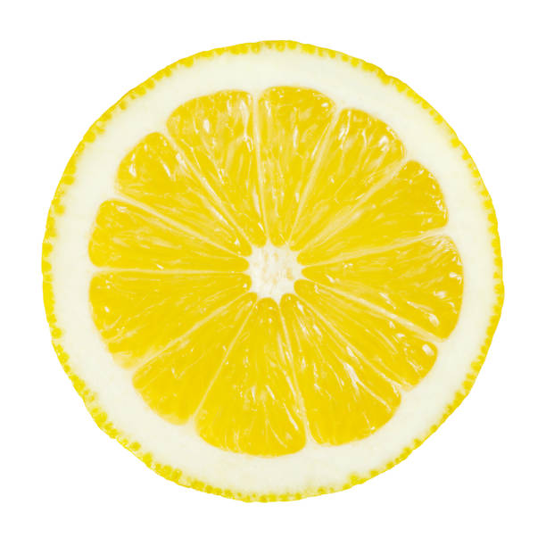 Citron partielle sur blanc - Photo