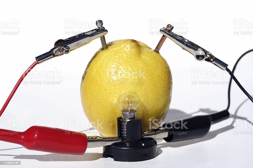 lemon power: home science for children stock photo