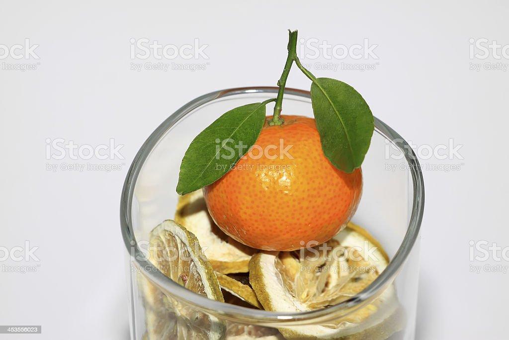 lemon slice and orange royalty-free stock photo
