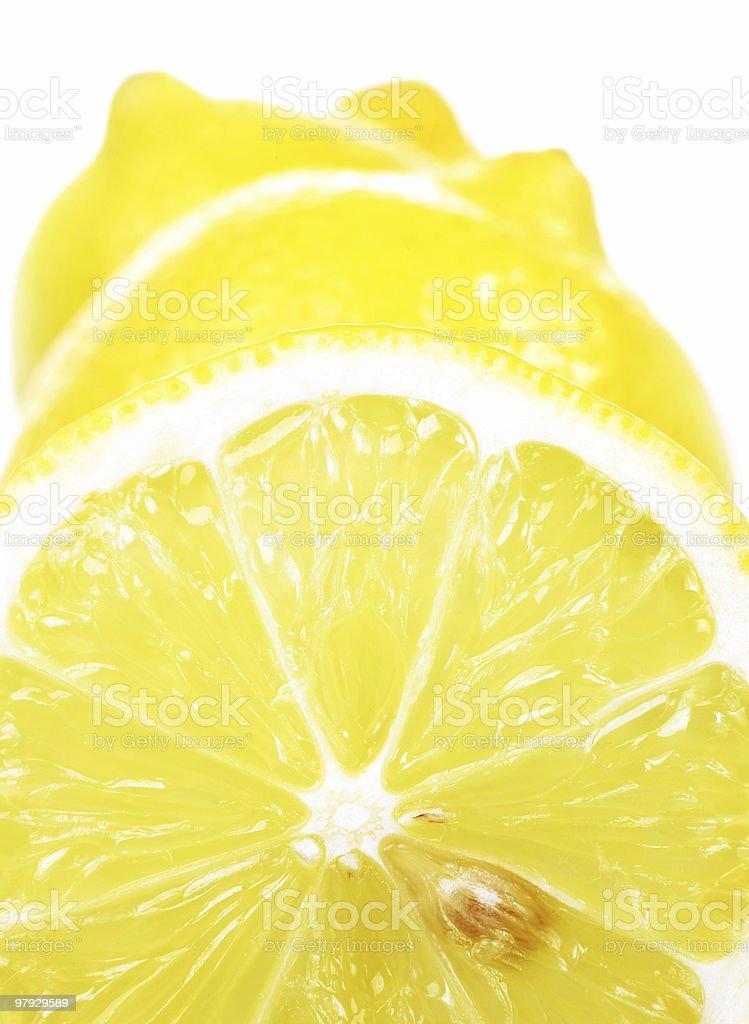 Lemon slice background royalty-free stock photo