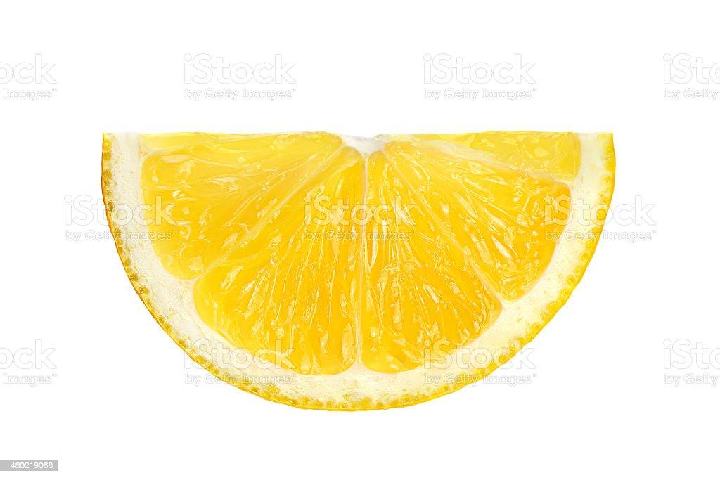 Lemon slice isolated stock photo