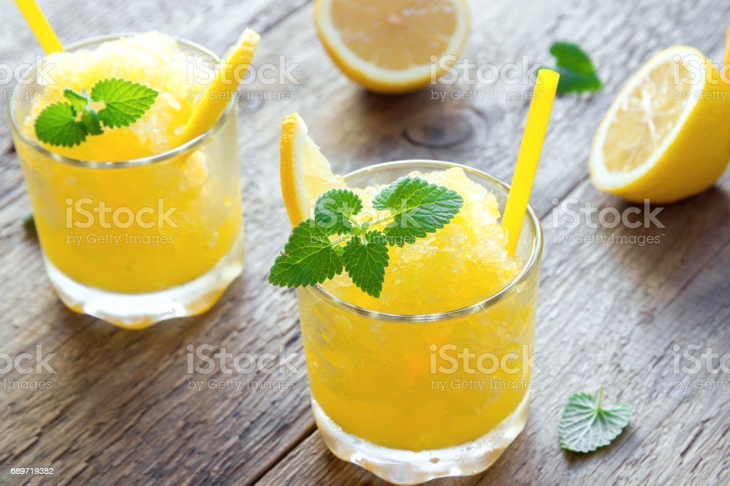 Lemon Slush Drink stock photo