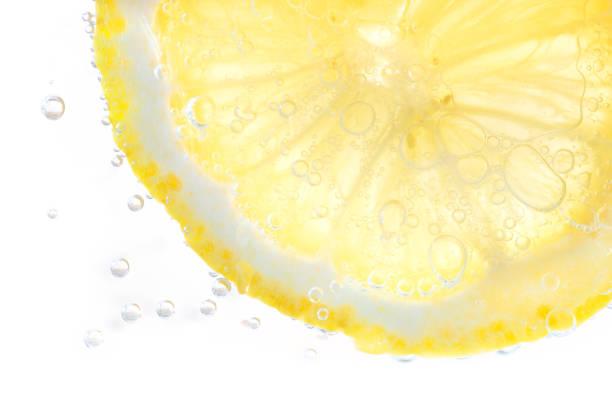 Lemon soda Slice of lemon in Soda water. lemon fruit stock pictures, royalty-free photos & images