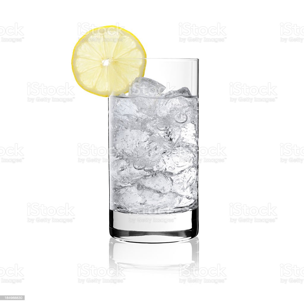 Lemon Soda with crushed ice - Cocktail Glass royalty-free stock photo