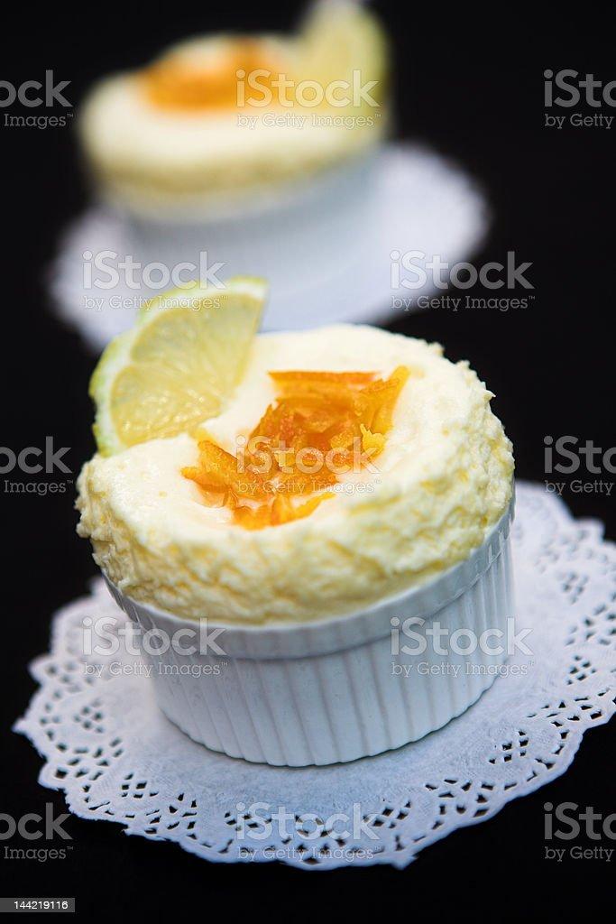 Lemon souffles stock photo