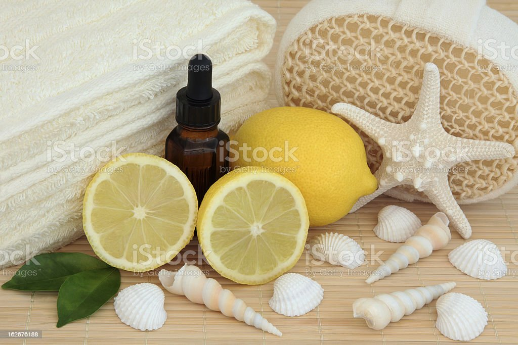 Lemon Spa Treatment royalty-free stock photo