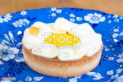 Lemon Tart Popular Dessert In Cafe Stock Photo & More Pictures of Appetizer