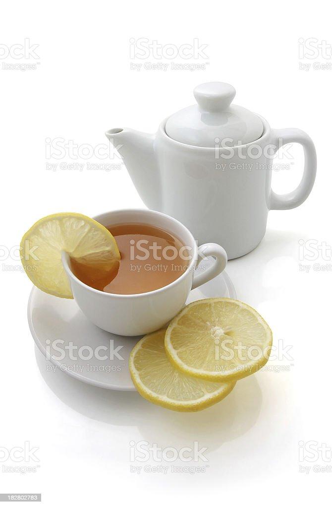 Lemon Tea Isolated on White Background royalty-free stock photo