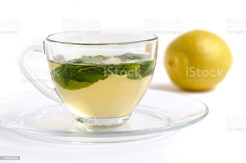 Lemon tea  with mint royalty-free stock photo