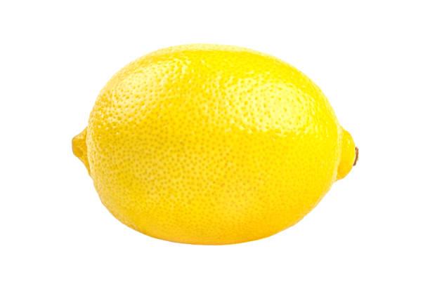 Lemon tropical fruit isolated on white background stock photo