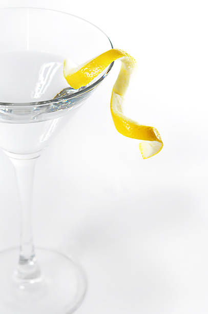 Lemon Twist Martini stock photo