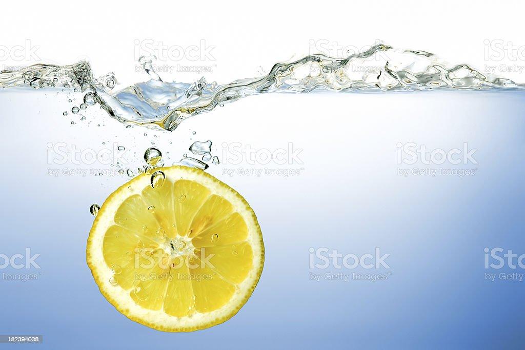 lemon under water lemon under water Backgrounds Stock Photo