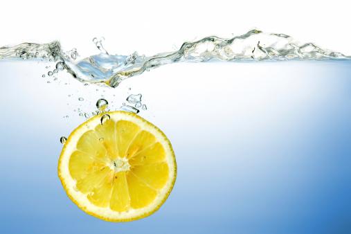 Lemon Under Water Stock Photo - Download Image Now