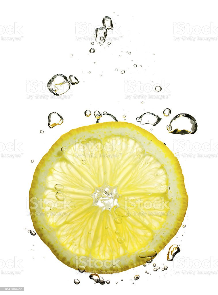 lemon under water stock photo